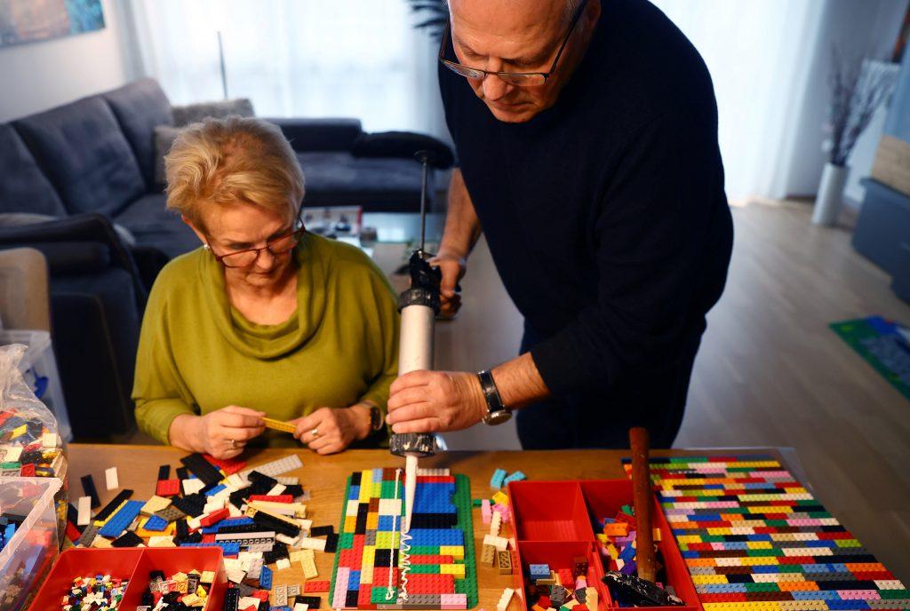 Rita Ebel y su esposo rampas lego