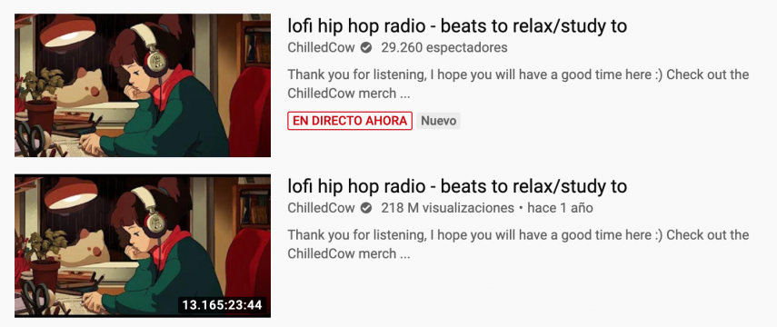 ChilledCow el video más largo en la historia de YouTube