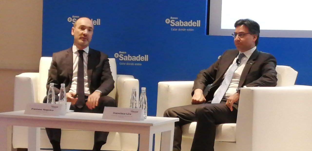 Francesc Noguera, CEO de Banco Sabadell y Francisco Lira, subdirector general de CIB y Banca de Empresas.