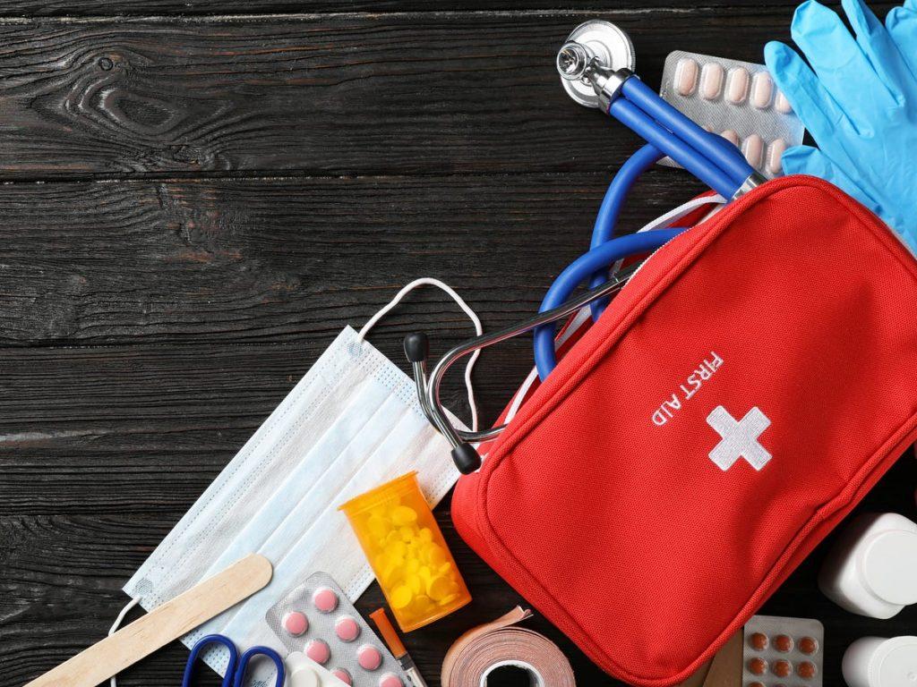 kit botiquín de primeros auxilios