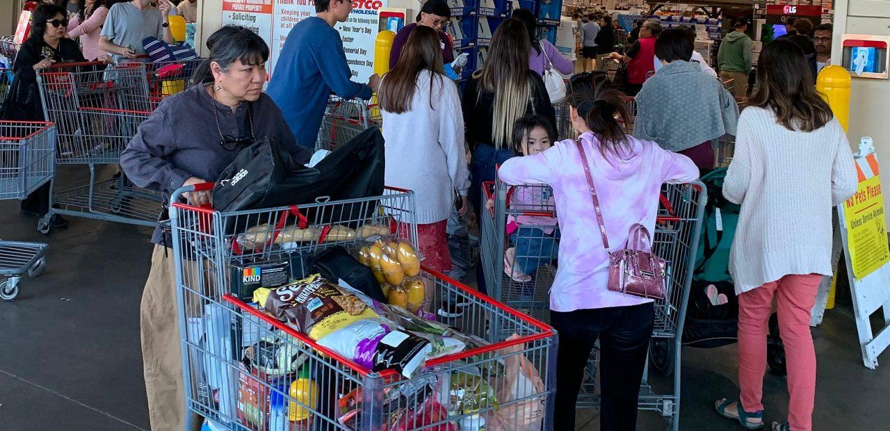 supermercado costco compras kit de emergencia cornavirus