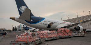 Aeroméxico utilizará aviones de pasajeros para transportar carga y medicinas en el combate al coronavirus
