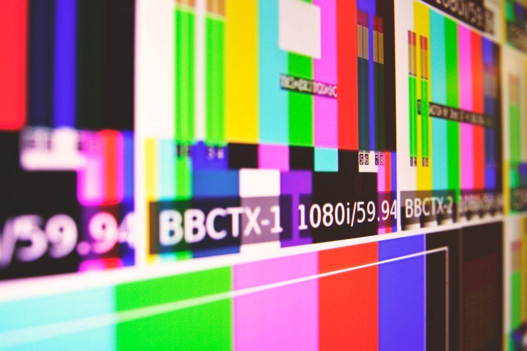 estática televisión rayas transmisión