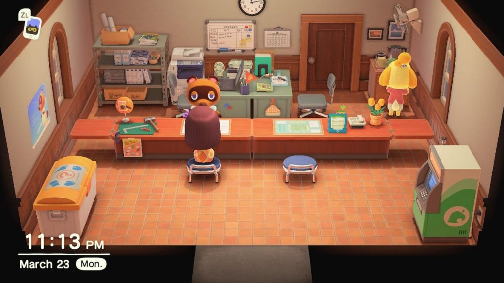 Animal Crossing entrentenimiento Tom Nook