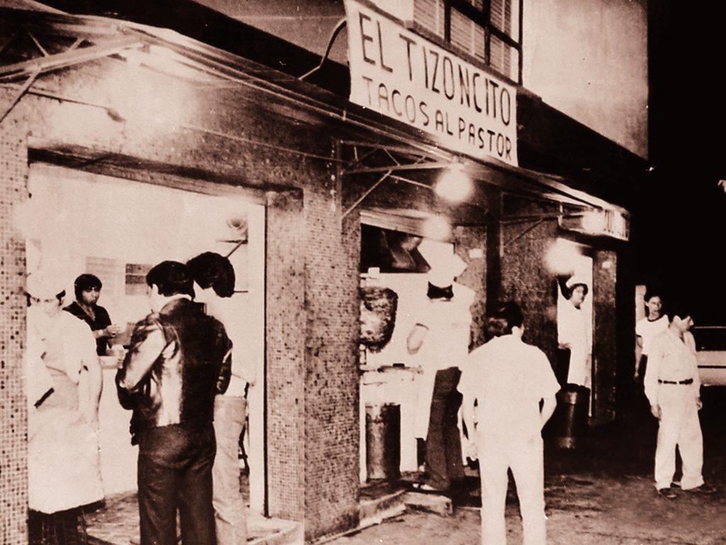 El Tizoncito primer local tacos al pastor 1960
