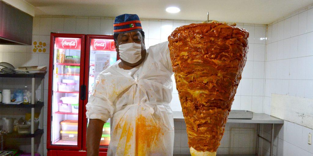 trompo de pastor tacos El Tizoncito