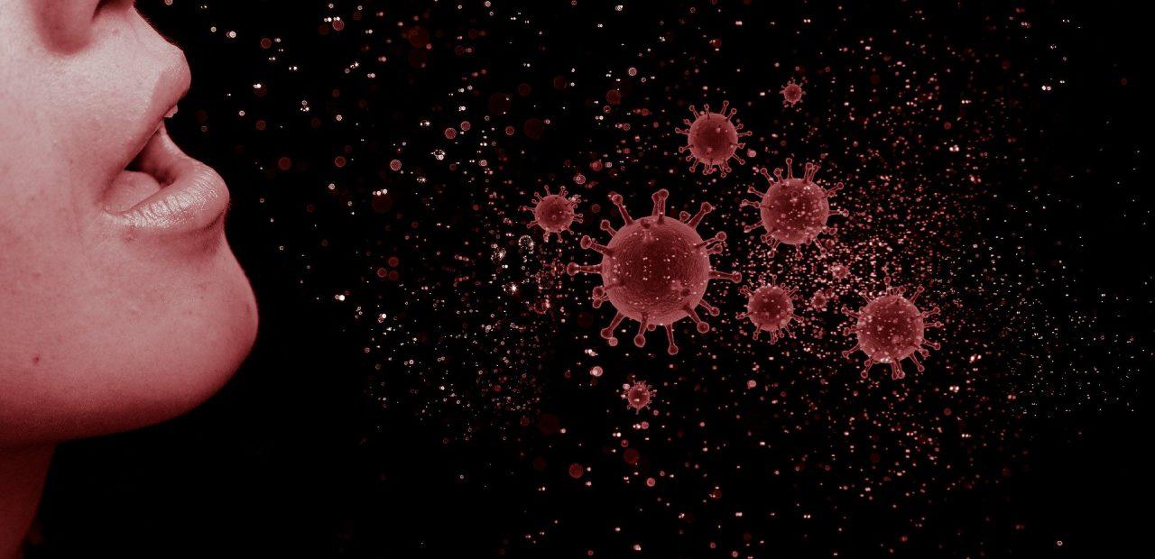 simulación en 3D coronavirus