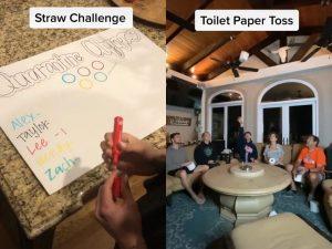 Una familia comenzó sus propios 'Juegos Olímpicos de Cuarentena' en TikTok mientras permanecen aislados en su casa