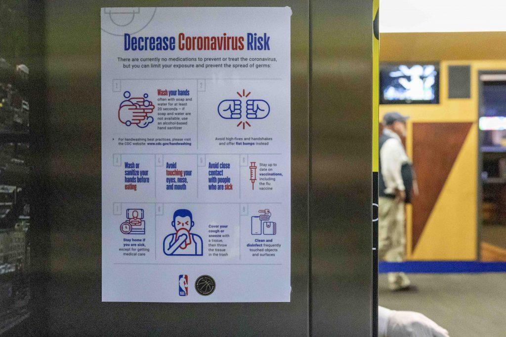 NBA prevención coronavirus