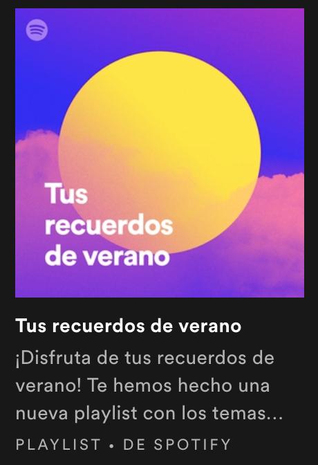 Spotify canciones verano