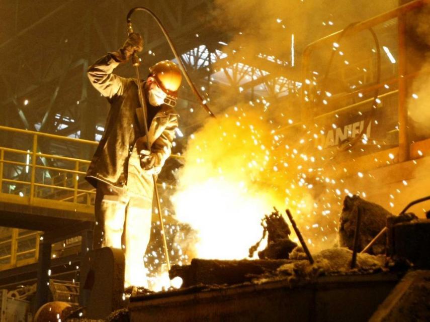 hierro hornos metal empleo
