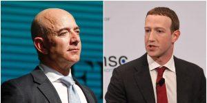 Zuckerberg y Bezos ganan 14,000 millones de dólares en un solo día